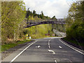 NS3593 : Footbridge over the A82, Luss by David Dixon