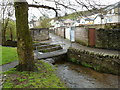 ST1190 : Footbridge over Nant Cwm-parc near Kingsley Place, Senghenydd by Jaggery
