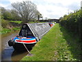 SJ3631 : Working Narrow Boat Hadar moored at Rowsons Bridge by Keith Lodge