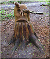 TQ4793 : Hainault Forest Tree Sculpture (6) by Roger Jones