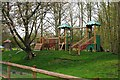 TL0387 : Barnwell Country Park - Children's play area in Picnic Meadow, near Oundle by P L Chadwick