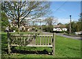 TL3455 : Kingston: bench on The Green by John Sutton
