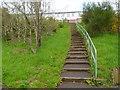 ST1290 : Steps up to Edward Terrace, Abertridwr by Jaggery