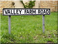 TM2750 : Valley Farm Road sign by Geographer