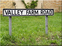 TM2750 : Valley Farm Road sign by Adrian Cable