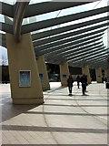 TQ3979 : Canopied Walkway, O2 Arena by Christine Westerback