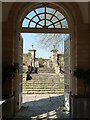 ST2428 : Hestercombe Gardens - from within the orangery. by Chris Allen