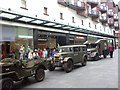 SX9292 : Military vehicles in Princesshay  by David Smith