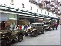 SX9292 : Military vehicles in Princesshay  by David Smith