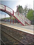 NY6820 : Platform and footbridge, Appleby station by Pauline E
