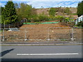ST1288 : Fenced-off plot of land, Abertridwr by Jaggery