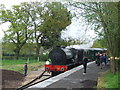 SZ5391 : Steam train at Wootton by Malc McDonald