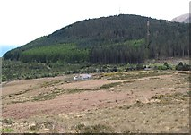 J3530 : Drinnahilly mountain and the Water Pumping Station by Eric Jones