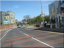 NZ3666 : Commercial Road approaching its junction with Station Road in South Shields by peter robinson