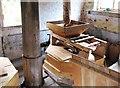 SO7263 : Shelsley Watermill (15) - hopper, Shelsley Walsh by L S Wilson