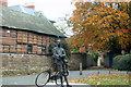 SO5139 : Sir Edward Elgar Statue Hereford by Roy Hughes