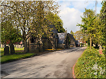 SD6602 : Disused Chapels at Atherton Cemetery by David Dixon