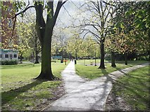 SK5319 : Footpath across Queen's Park by Betty Longbottom