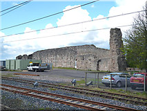 NT9953 : Berwick-upon-Tweed: Castle remains by Dr Neil Clifton
