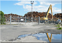 NT2776 : Scrapyard at Leith Docks by Anne Burgess