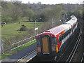 SU3310 : Ashurst station by Stephen Craven