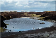 SK0787 : Small tarn near the top of Kinder Low by Andrew Hill
