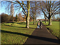 SP2965 : Walking through St Nicholas Park before Christmas by Robin Stott