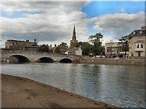 TL0549 : Bedford Town Bridge & St Paul's church by Paul Gillett