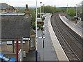 NS8759 : Shotts station by M J Richardson