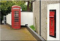 J3267 : Victorian wall box, Ballylesson, Belfast (2) by Albert Bridge