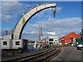 ST5872 : Curved crane, Bristol docks by David Martin