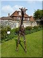 TR3358 : Giraffe sculpture in The Salutation gardens, Sandwich by pam fray