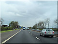 NS4666 : M8 east past Walkinshaw Farm by John Firth