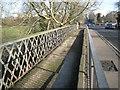 SP3065 : Closed footway extension, Portobello Bridge, Warwick by Robin Stott
