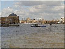 TQ3680 : River Thames, Nelson Dock Pier by David Dixon