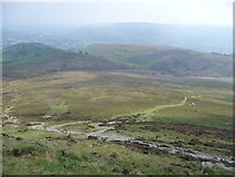 SO2718 : View south from the Sugar Loaf's summit by Jeremy Bolwell