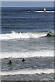 NT6084 : Surfers at Seacliff by Walter Baxter
