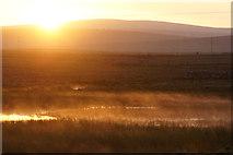 HP6312 : Sunset at Haroldswick pool by Mike Pennington