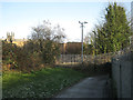 SP3165 : Blind bend on the path to Leamington station by Robin Stott