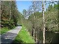 NN9060 : South Loch Tummel road by Richard Webb