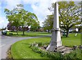 NY5633 : Langwathby, war memorial by Mike Faherty