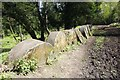 TQ0247 : The Millstones by the Path by Bill Nicholls