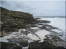 NU2617 : Rough sea and rocks by Jonathan Thacker