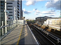 TQ3880 : East India DLR station by Marathon