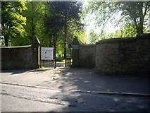 NZ1525 : Entrance to Evenwood Cemetery by Stanley Howe