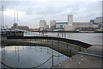 TQ3680 : Dock Gate, Nelson Docks by N Chadwick