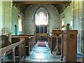 SU0268 : View west inside the Church of St Mary, Calstone Wellington by Brian Robert Marshall