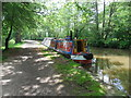SJ4133 : Working Narrow Boat Hadar moored at Blakemere by Keith Lodge