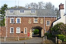 SX9292 : Entrance to Exeter Bishop's Palace by Mike Smith