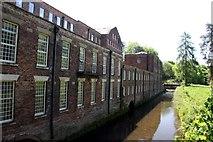 SJ8383 : River Bollin at Quarry Bank Mill by Graham Hogg